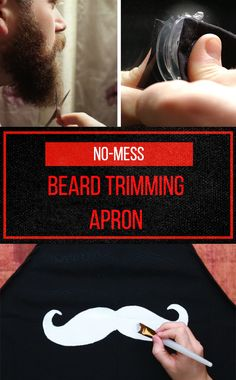 No more trimmings in the sink—this beard apron will catch 'em all!