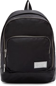 Marc by Marc Jacobs Black Leather-Trimmed Ultimate Backpack