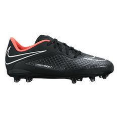 newest collection 5d228 6a4b2 Nike Youth HyperVenom Phelon FG Soccer Shoes (Black Hyper Punch)    SoccerEvolution