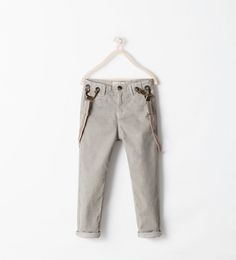 Image 1 of NEEDLECORD TROUSERS WITH BRACES from Zara