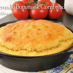Home Made Buttermilk Cornbread Recipe Cornbread Recipe No Eggs, Cornmeal Cornbread, Southern Cornbread Recipe, Cornmeal Recipes, Buttermilk Cornbread, Homemade Cornbread, Buttermilk Recipes, Sweet Cornbread, How To Make Cornbread