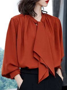 Just 2019 Spring Autumn Colorful Shirt Women Blouses Long Sleeve Pink Shirts Turn Down Collar Formal Office Ladies Top High Qualiy A Great Variety Of Models Women's Clothing