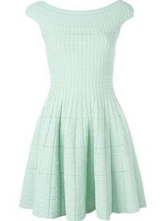 Alexander McQueen knitted flared dress