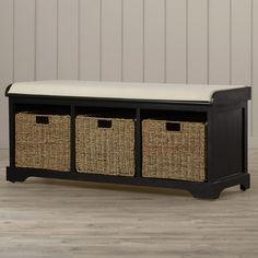 Beachcrest Home Seminole Wood Storage Hallway Bench & Reviews | Wayfair