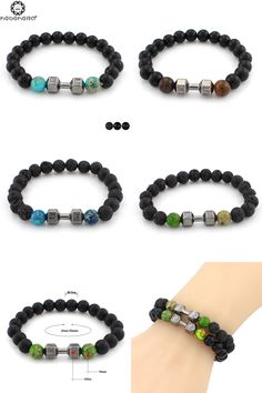 5810ec855407  Visit to Buy  2017 Natural Stone Buddha Charm Bracelets Tiger Eye Stones  Beads Bracelets For Women Fitness Fit Life Prayer Dumbbell Jewelry