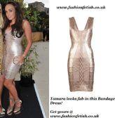 Buy Tamara Rose Gold Bandage Dress @ www.fashionfetish.co.uk
