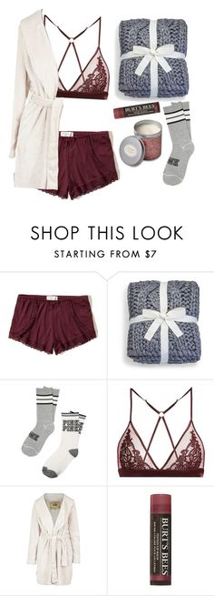 """""""Good night#3"""" by mihai-theodora ❤ liked on Polyvore featuring Hollister Co., UGG, Fleur of England, UGG Australia, Burt's Bees and Himalayan Trading Post"""