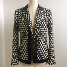 """Anthropologie """"Liefnotes"""" Black and White Blazer Cotton/Poly blend blazer from Anthropologie. Size 6. Great fit and an awesome addition to any outfit with jeans. Great condition. Reasonable offers welcomed. Anthropologie Jackets & Coats Blazers"""