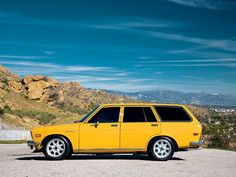 1971 Datsun 510 Wagon.  Mine was red and I drove it across Canada in 1978, living in it for four months. Awesome Car!!!!!