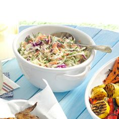 Basil Dill Coleslaw Recipe -I was introduced to basil when I married into an Italian family. I loved the aromatic fragrance and flavor of the herb. Kfc Coleslaw, Vegan Coleslaw, Coleslaw Recipes, Mayonnaise, Fresh Basil Recipes, Coleslaw Dressing, Dill Dressing, Cabbage Salad Recipes, Cooking Recipes