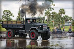 "Custom Built M35A2 Deuce 1 2 Military Vehicle Custom 5"" Lift 53"" Tires | eBay 6x6 Truck, Jeep Truck, Heavy Duty Trucks, Heavy Truck, Farm Trucks, Old Trucks, Dragon Wagon, 4x4 Wheels, Mercedes Benz Trucks"