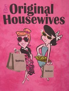 The FLINTSTONES Betty WILMA Housewives ViNtAgE Retro New WoMeNs JUNIORS S sHiRt*
