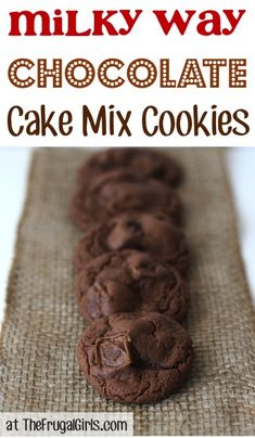Milky Way Chocolate Cake Mix Cookies Recipe! ~ from TheFrugalGirls.com ~ these cookies are out-of-this-galaxy-good! #cookie #recipes #thefrugalgirls