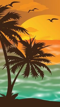 27 Ideas For Tropical Tree Illustration Beaches Calendar Wallpaper, Apple Wallpaper, Screen Wallpaper, Mobile Wallpaper, Hd Phone Wallpapers, Phone Backgrounds, Wallpaper Backgrounds, Iphone Wallpaper, Wall Calendar Design