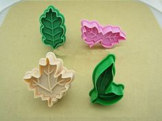 These are perfect for decorating Thanksgiving, Mabon, and autumn pies and cakes. These spring-loaded pie cutters also stamp the leaf vein designs into each leaf.  I was looking for a replica of Williams Sonoma discontinued pastry cutters and these are the same and lead-free. the oak and maple look awesome if you bake a few seperately, you can use them to cover up cracks on your pumpkin pie.