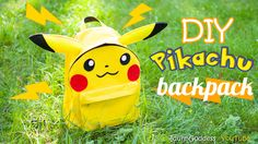 Easy way to make absolutely awesome back-to-school DIY project - Pikachu backpack. I'm so happy this cute pokémon is on trend again! So why not to make your ...