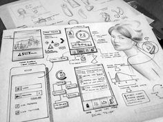 Dribbble - Initial_Ideation2.jpg by Lance Cassidy #wireframe #wireframes