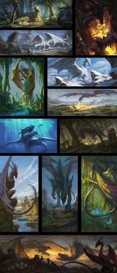 ArtStation - Dragons, Earl Lan