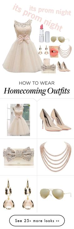 """""""its prom night"""" by showgirlkash on Polyvore featuring Tory Burch, Sophia Webster, Charlotte Tilbury, DaVonna, Kate Spade, Ray-Ban and HoneyBee Gardens"""