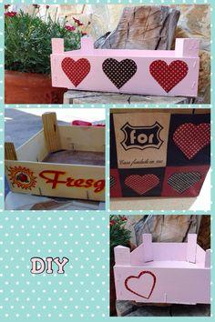 Caja fresas de madera decorada