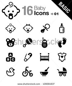 Find Basic Baby Icons stock images in HD and millions of other royalty-free stock photos, illustrations and vectors in the Shutterstock collection. Baby Feet Tattoos, Icon Design, Logo Design, Web Design, Kids Web, Human Icon, Baby Icon, Baby Images, Event Flyer Templates