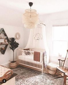 45 Beautiful Baby Girl Nursery Room Ideas - Page 22 of 45 - VimDecor : baby room ideas, girl nursery ideas, nursery ideas, nursery ideas farmhouse Boho Nursery, Nursery Neutral, Girl Nursery Decor, Bambi Nursery, Ikea Baby Nursery, Bohemian Baby Nurseries, Twin Nurseries, Neutral Nurseries, Nursery Rugs