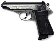 The Walther PP (Polizeipistole, or police pistol) series pistols are blowback-operated semi-automatic pistols, developed by the German arms manufacturer Walther. It features an exposed hammer, a traditional double-action trigger mechanism, a single-column magazine, and a fixed barrel that also acts as the guide rod for the recoil spring. The series includes the Walther PP, PPK, PPK/S, and PPK/E.