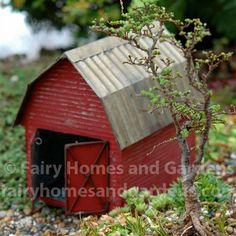 Miniature Barn at http://www.fairyhomesandgardens.com