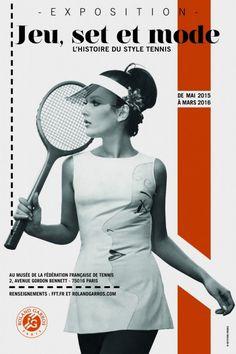 ROLAND GARROS & WHITE SPIRIT: inspiration by Les Cachotières / Jeu, set et mode au Musée Roland-Garros. Affiche