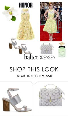 """""""HalterDress"""" by marie-blanc ❤ liked on Polyvore featuring Office, Dolce&Gabbana and halterdresses"""