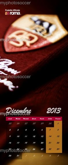 "#myphotosoccer, #calendar, #asroma, #roma - Color your 2013 red and yellow with calendar ""2013 giallorosso"" Switch 365 days together with your samples of Rome. Inside the best pictures of the players and excited!         Product that you can buy exclusively and only on the site www.myphotosoccer.it"