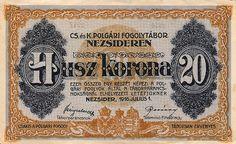 20 Крон (1916) Венгрия (Hungary) Европа Hungary, Funny, Taps, Vintage, Banknote, Ha Ha, Faucets, Hilarious