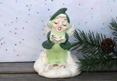 Vintage Christmas Bell China Elf Christmas Kitsch by CherryPrairie, $6.00