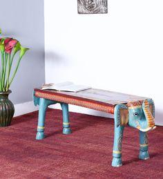 Arala Bench in Blue Finish by Mudramark
