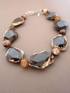 Black agate necklace by Steinen