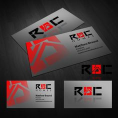 Create a strong, edgy logo/cards for a real estate pioneer, ROC Homes by A ʀ ᴛ…
