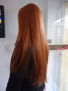 Copper Red Hair: with Keune mix - # # # Copper: . - Copper Red Hair: with Keune mix – # 44 # - Reverse Ombre Hair, Auburn Red Hair, Copper Red Hair, Long Red Hair, Straight Red Hair, Straight Wigs, Gorgeous Hair, Hair Looks, Dyed Hair