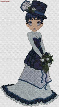 Dama de azul 1