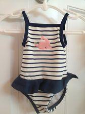 Baby Girl Swim Bathing Suit Preppy Nautical Janie And Jack Looks Navy Stripes Pink Whale
