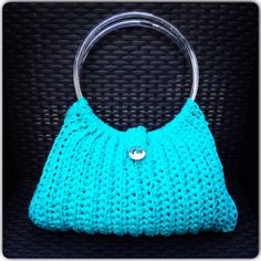 Aqua Bag, crochet, hand made by me Chrissy's Knitted Stuff  come visit me on www.facebook.com/chrissysknittedstuff