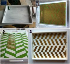 This is a good example of how to the make the herringbone pattern with the tape