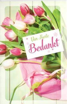 Van harte bedankt  #bedanktkaart tulpen #bedanktkaarten #bedanktkaart