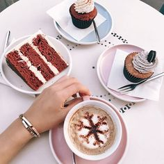 Can't decide what's better... soy cappuccino and red velvet cake or the new love bracelets by @Cartier 😍💗 #LoveBracelet #DareToDeclare 💍🍰 #Cartier