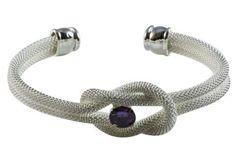 Tiffany Knik Cuff Silver Purple Bangles $49.00