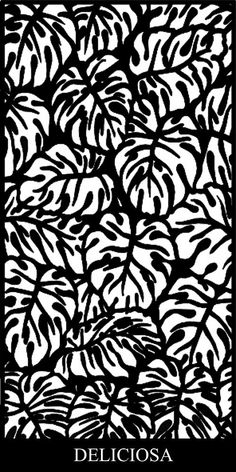 Deliciosa Laser Cut Screen Design creates a tropical and tranquil aesthetic with its Monstera Deliciosa leaf design reminiscent of a tropical oasis. Stencil Patterns, Wood Patterns, Stencil Designs, Laser Cut Screens, Laser Cut Panels, 3d Laser, Laser Cut Wood, Cnc Cutting Design, Laser Cutting