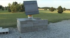 The Easy*, Cheap* Way to Build a BBQ Pit in Your Backyard using cinder blocks