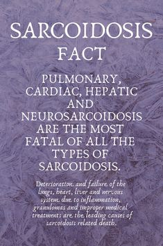 Sarcoidosis is a serious illness. There is no known cause and no cure. Health And Nutrition, Health Care, Icu Nursing, Work Memes, Autoimmune Disease, Chronic Illness, Fibromyalgia, Pain Relief, The Cure