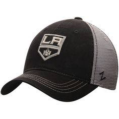 newest a78c6 75a11 Los Angeles Kings Zephyr NHL Riptide Slouch Trucker Adjustable Hat - Black  Gray