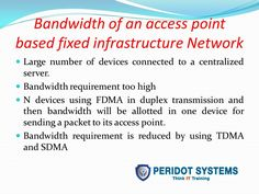 Bandwidth of an access point based fixed infrastructure network