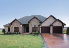 exterior 1 story homes | One-Story Home Plans